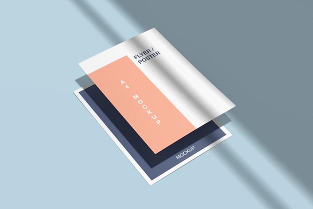 Plakat- / flugblattmodell mit schatten
