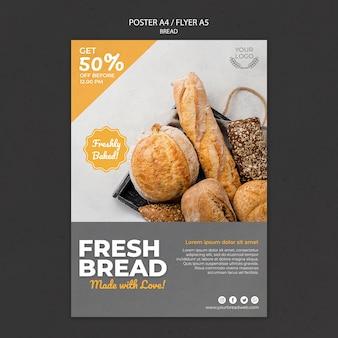 Plakat für bäckerei