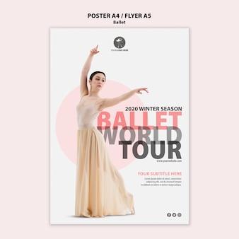 Plakat für ballettaufführung