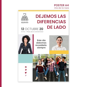Plakat für columbus-tagesfeier