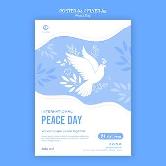Plakat für den friedenstag