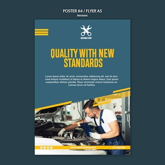 Plakat für den mechanikerberuf