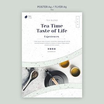 Plakat für die teezeit