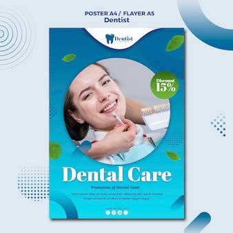 Plakat für die zahnpflege