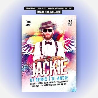 Plakat für eine jackie-party