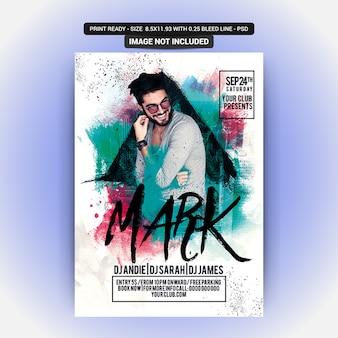 Plakat für eine markmusikparty