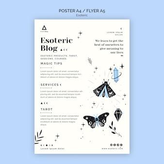 Plakat für esoterischen blog
