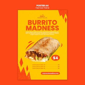 Plakat für fast-food-restaurant