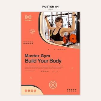 Plakat für fitness-aktivität