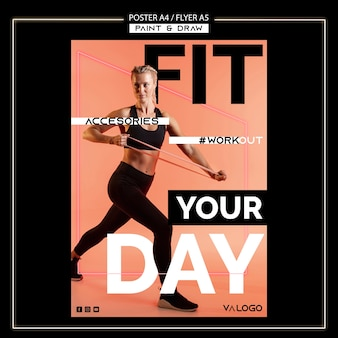 Plakat für fitnesstraining
