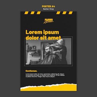 Plakat für friseurgeschäft