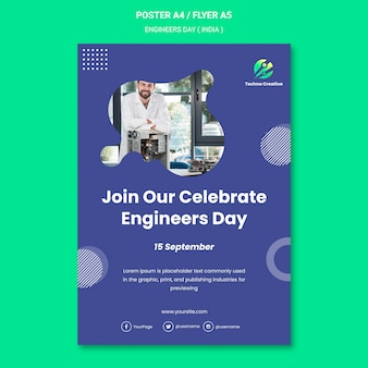 Plakat für ingenieur-tagesfeier