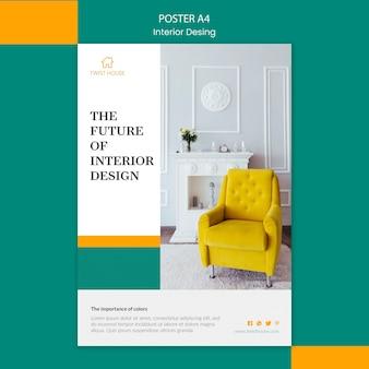 Plakat für innenarchitektur