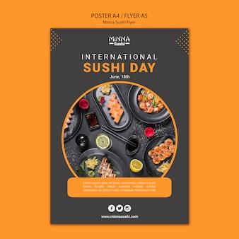 Plakat für internationalen sushi-tag