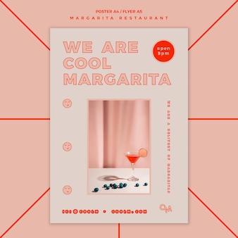 Plakat für margarita-cocktailgetränk
