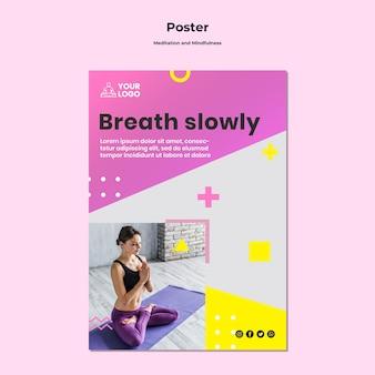 Plakat für meditation und achtsamkeit Kostenlosen PSD
