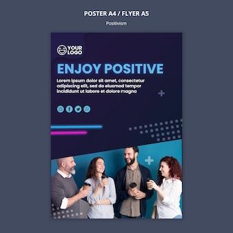 Plakat für optimismus und positivismus