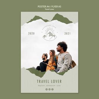 Plakat für reisen im freien