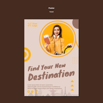 Plakat für reisende abenteuerzeit
