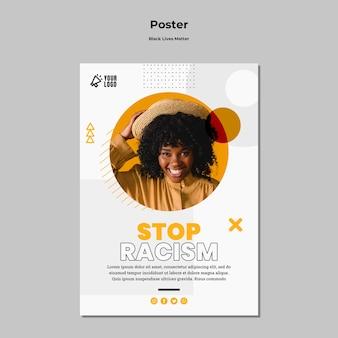 Plakat für schwarze lebensmaterie
