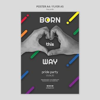 Plakat für schwulen stolz