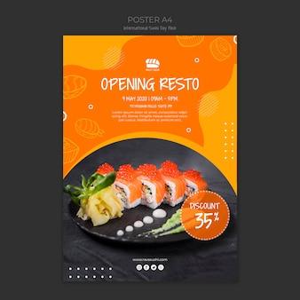 Plakat für sushi-restaurant