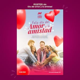 Plakat für valentinstagfeier