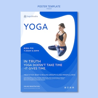 Plakat für yoga fitness