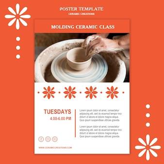Plakat keramik kreationen anzeigenvorlage