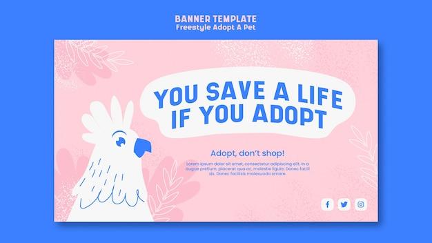 Plakat mit adoptiertem haustierdesign