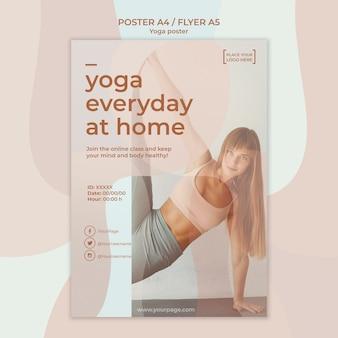 Plakat mit yoga-thema
