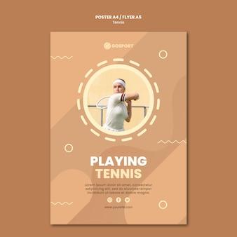 Plakat zum tennisspielen