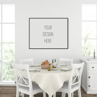 Plakatmodell, küche mit horizontalem rahmen