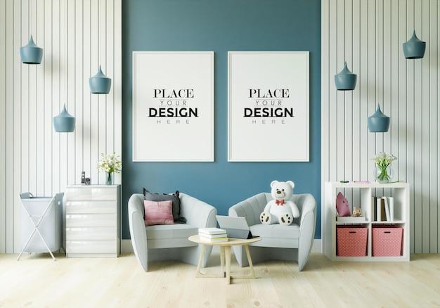 Plakatrahmen im kinderzimmermodell