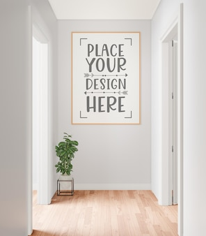 Plakatrahmen im wohnzimmermodell