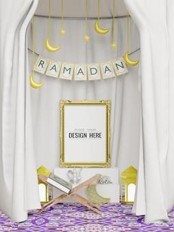 Plakatrahmen modell mit innenraum ramadan dekoration wohnzimmer