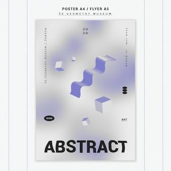 Plakatschablone der geometrischen formen 3d