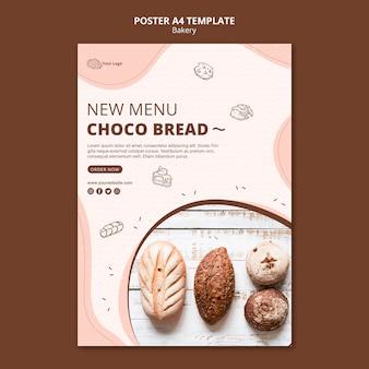 Plakatschablone für bäckereigeschäft