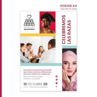 Plakatschablone für columbus-tagesfeier