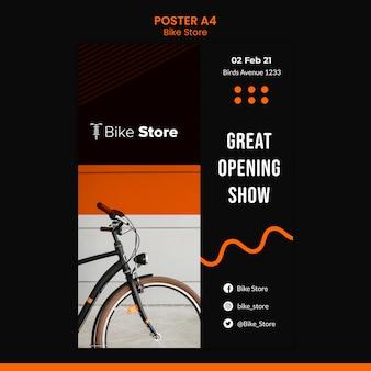Plakatschablone für fahrradladen