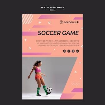 Plakatschablone für fußball