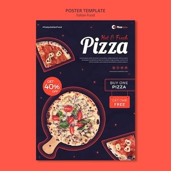 Plakatschablone für italienisches nahrungsmittelrestaurant