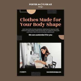Plakatschablone für modedesigner