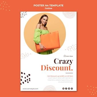 Plakatschablone für modeeinkaufsgeschäft