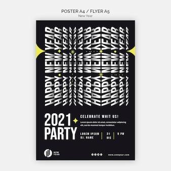 Plakatschablone für neujahrsparty