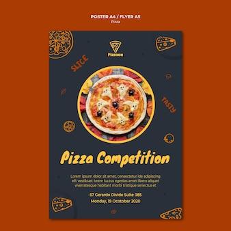 Plakatschablone für pizzarestaurant