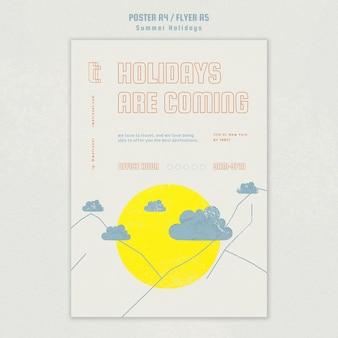 Plakatschablone für sommerferien