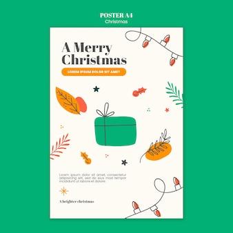 Plakatschablone für weihnachten