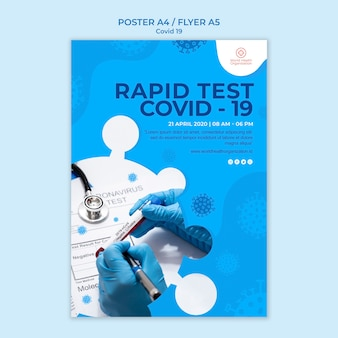 Plakatschablone mit covid-19