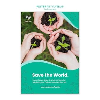 Plakatschablone mit umweltthema